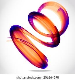abstract 3d tech spiral circle tornado vector background