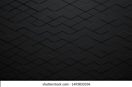 abstract 3d texture vector black square  pattern background,grunge surface-illustration wallpaper.