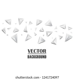 Abstract 3D Triangle Background. Vector illustration.
