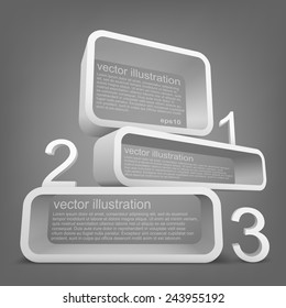 Abstract 3d vector Illustration with place for text. Template poster with numbers. Background design for banner, flyer, cover, brochure.