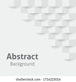 Abstract 3d white geometric background with shadow