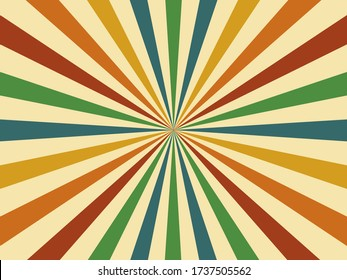 Abstract. 60s colorful retro style geometric vintage background. vector. illustration.
