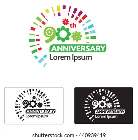 Abstract 90 Th anniversary ,logo concept.