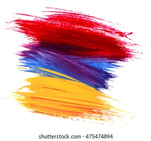 Abstract acrylic painted background. Vector illustration.Colorful oil painting