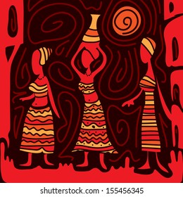 Abstract African Art (vector)
