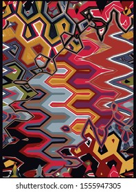 Abstract african artistic geo, contemporary art  pattern with lines, zigzag, motifs, stripes. Vector graphic modern pattern for carpet, rug, scarf, cover, wall art, scarf, pillow, clipboard, shawl