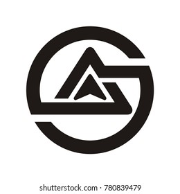 Abstract AG, AS, GA, SA  logo initial letter design template vector illustration