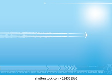 Abstract airplane background