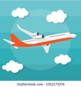 Abstract Airplane Background Vector Illustration EPS10