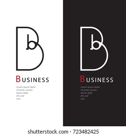 Abstract alphabet B logo, Decorative English letter B logo, Design of capital letter logo, Vector illustration, Vector graphic design of unique alphabet logo