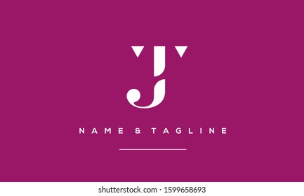 Abstract Alphabet Letter Symbol Icon JT,TJ,T and J
