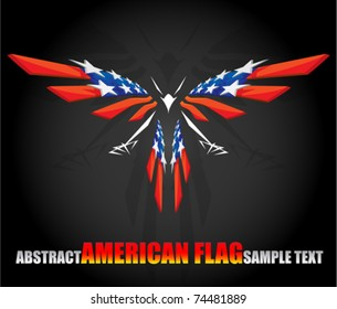 abstract american flag 2