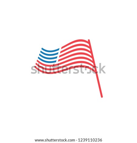 abstract american flag graphic design template stock vector royalty