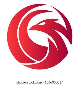 abstract animal firebird