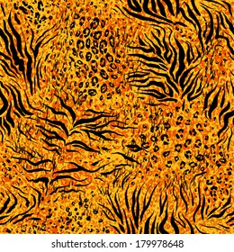 Abstract animal pattern. Seamless vector background