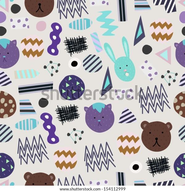 Abstract Animal Seamless Pattern
