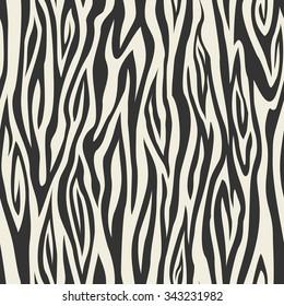 Abstract animal skin monochrome seamless pattern. Vector.