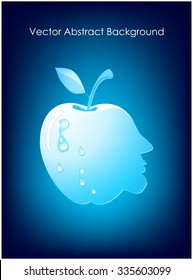 Abstract apple with drops