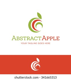 abstract apple logo for food or nutrition related business, website