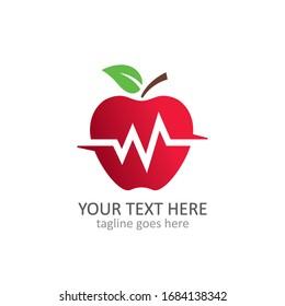 Abstract apple vector logo template