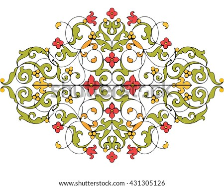 Abstract Arabic Middle Eastern Pattern Design Stock Vector Royalty Magnificent Middle Eastern Patterns