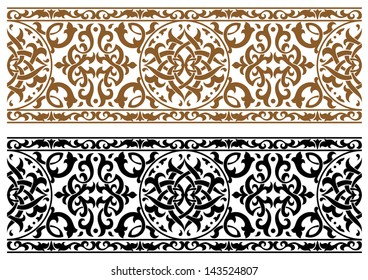 Abstract arabic ornament in two colors for design and ornate. Jpeg version also available in gallery