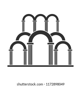 Abstract arch entrance silhouette icon.