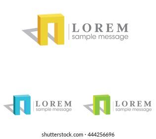 Abstract architect concept logo .