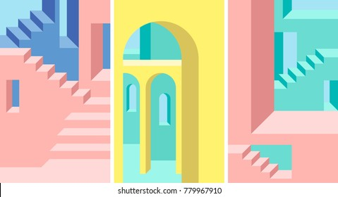 Abstract architectural background.