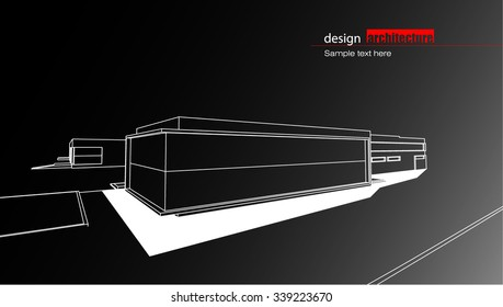 Abstract architectural background layout design