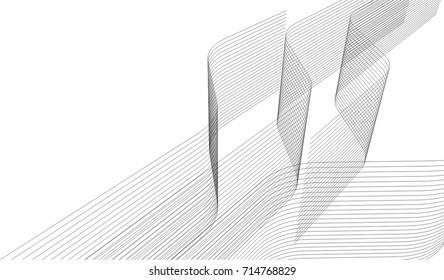 abstract architecture building