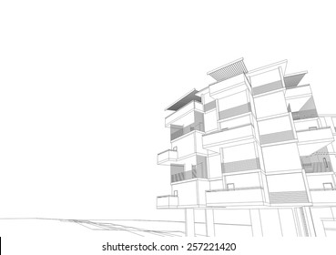 Abstract architecture. House building.