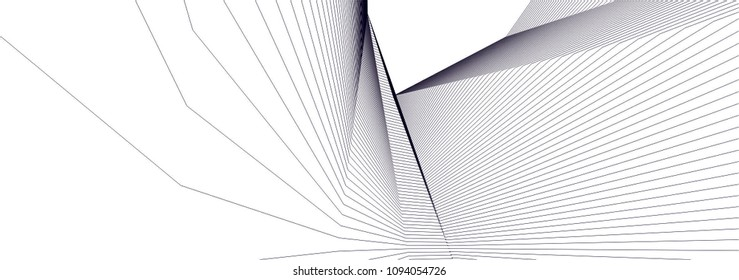 abstract architecture, vector background