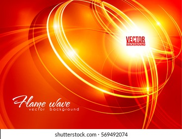 Abstract ardent background. Red and white color template with lighting effect. Bright shiny cover design layout for corporate flyer, business book, booklet, brochure, poster, banner. Vector