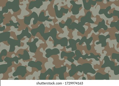 Abstract Army Brush. Dirty Camo Print. Camo Navy Grunge. Repeat Navy Pattern. Brown Hunter Pattern. Woodland Vector Camouflage. Digital Green Camouflage Seamless Paint. Modern Military Camoflage.