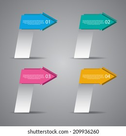 Abstract arrow banners for sale and advertising.