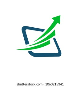 Abstract arrow up business logo