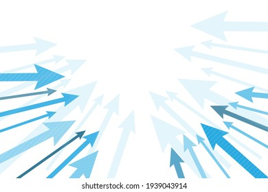 Abstract arrow growth and success graph business sign vector illustrator