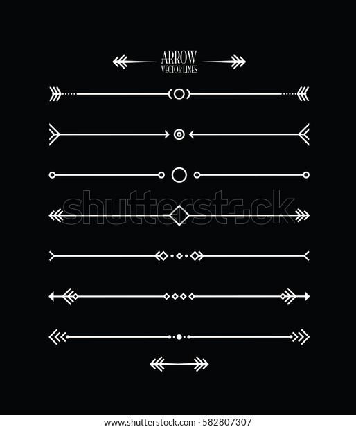 abstract arrow line set