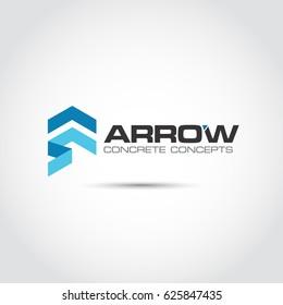 Abstract Arrow Logo Template. Vector Illutrator Eps.10