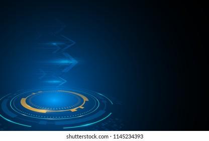 abstract arrow speed move forward tech sci fi innovation concept background eps 10 vector