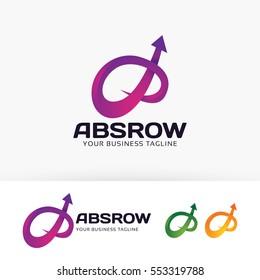 Abstract Arrow, trade, finance, business. Vector logo template