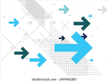 Abstract Arrows Background – Blue