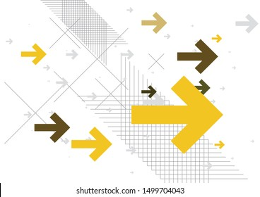 Abstract Arrows Background - Yellow