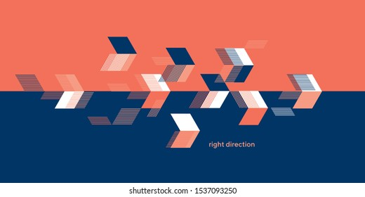 Abstract arrows geometric composition for card, header, invitation, poster, social media, post publication. Concept sport dynamic design.