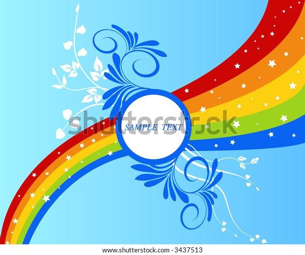 Abstract, art, artistic, floral background - vector