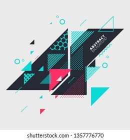 Abstract art background with geometric elements