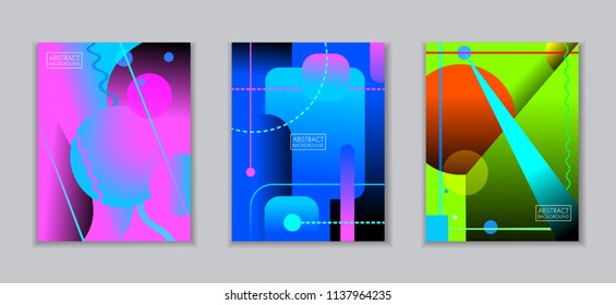 abstract art backgrounds with colored shapes and lines