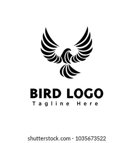 Abstract art eagle fly logo