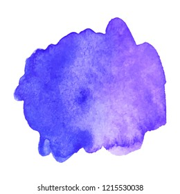 Abstract art hand paint isolated Watercolor stain on white background. Watercolor banner